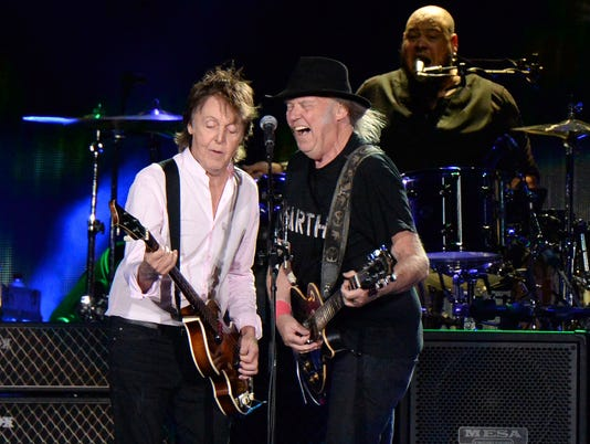 Paul McCartney and Neil Young