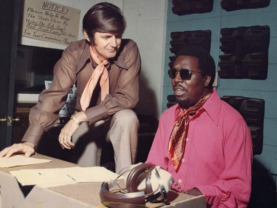 FAME Studios founder Rick Hall (left) with blues/soul