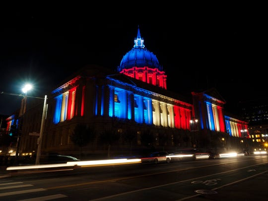 "San Francisco City Hall, where the city's Board of Supervisors passed a resolution blasting the National Rifle Association, calling the gun-advocacy group a ""domestic terror organization."" Vero Beach Mayor Val Zudans fired back, blastic San Francisco's action."