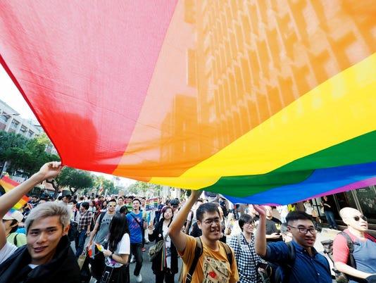 EPA TAIWAN POLITICS SAME SEX MARRIAGE POL CITIZENS INITIATIVE & RECALL HUMAN RIGHTS TWN