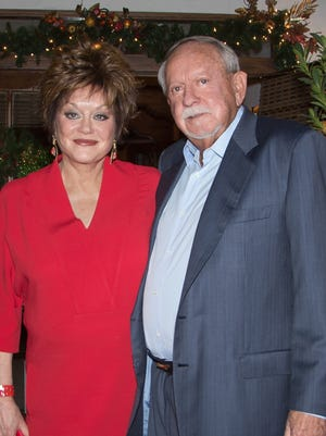 "Randall Dee ""R.D."" Hubbard and his wife, Joan Dale, pose for a photo. R.D. Hubbard, the former majority owner of the Ruidoso Downs Racetrack died on April 29 at the age of 84."