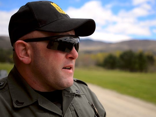 Vermont Game Warden Sgt. Trevor Szymanowski talks in spring 2017 about the tick his wife found on his back after he handled a deer at work. He was diagnosed with Lyme disease years later.