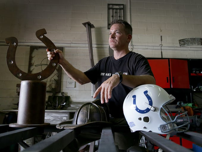 Ryan Feeney, the firefighter/artist sculpting the Peyton