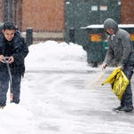 How much snow did North Jersey get Wednesday?