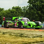 Johannes van Overbeek drives the Tequila Patron ESM Honda Ligier JS P2 to the pole position for the Six Hours of The Glen on Saturday at Watkins Glen International. He is teamed with Scott Sharp and Louis Felipe Derani.