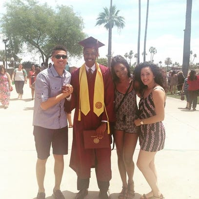 Elijah Jenkins, 19, graduated from ASU last week.