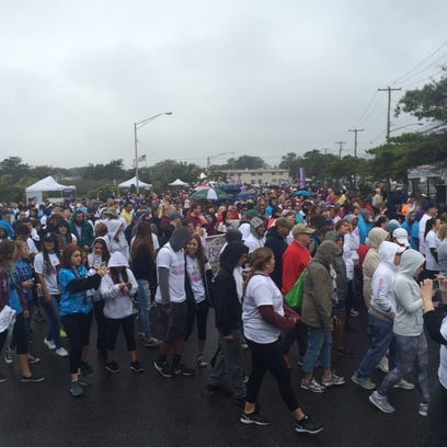 An estimated 2,000 people walked in Point Pleasant
