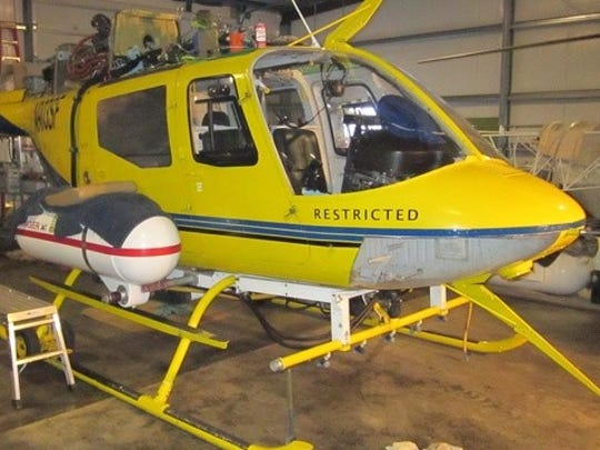 This helicopter belonging to Pacific Air Research was involved in several aerial spraying investigations