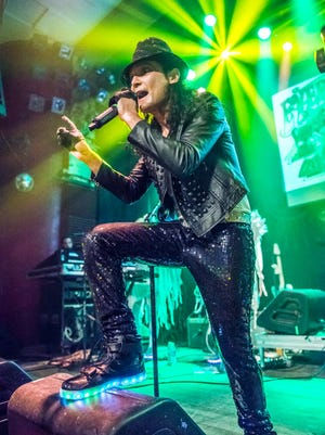 Corey Feldman performs at The Vogue in Indianapolis during the Angelic 2 Tour with support from his band, Corey's Angels, and opener Andy D on Saturday, July 8, 2017.