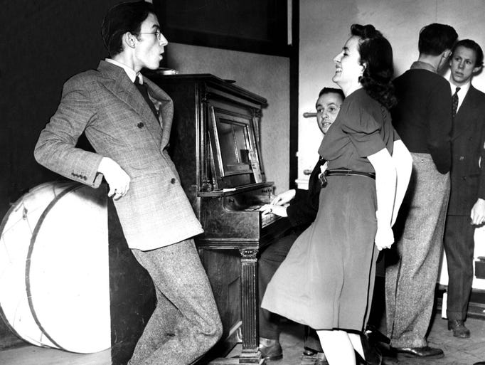 A couple dances the jitterbug in Detroit--always a