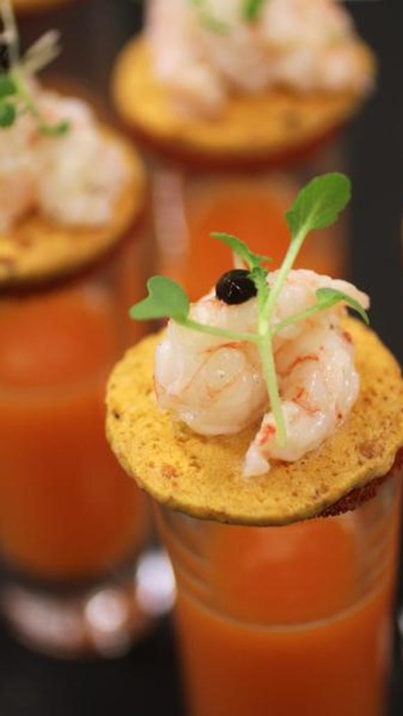 Pineapple and roasted red pepper soup was served last year at a sold-out dinner at Vicmead Hunt Club.