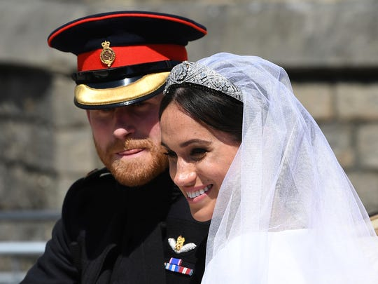 Prince Harry and his bride, Duchess Meghan of Sussex,
