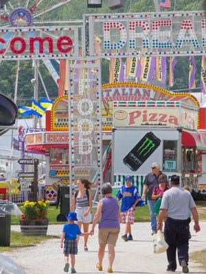 Tuesday marked opening afternoon on the midway at the Addison County Field Days in New Haven.