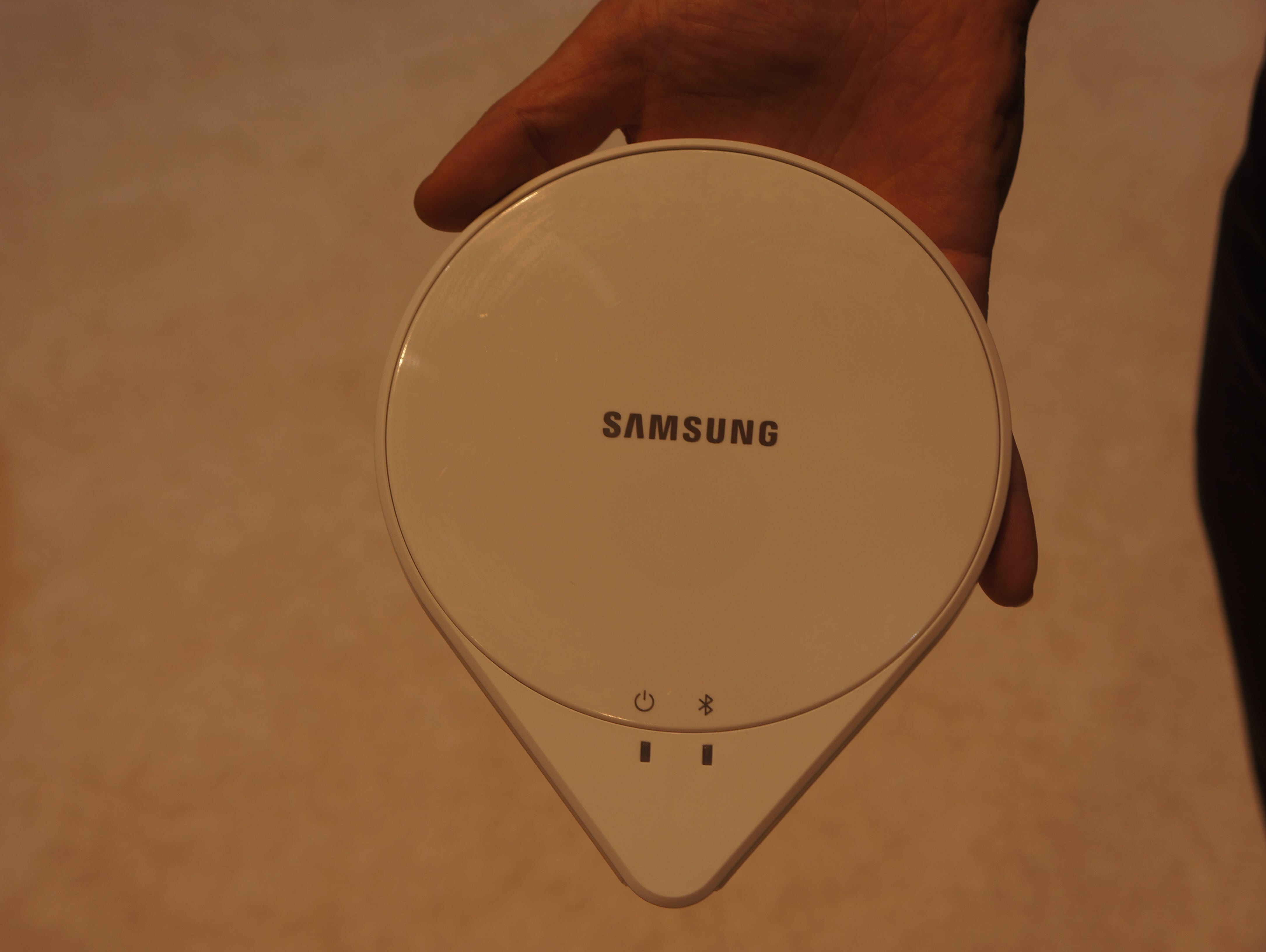 Samsung SleepSense sensor goes under the mattress.