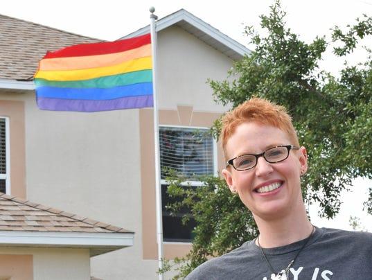 Jenifer Raymond Rainbow Flag