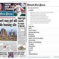 detroit free press e edition problem