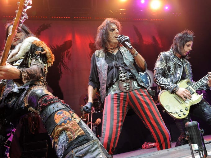 Alice Cooper performs at the Wisconsin State Fair Aug.