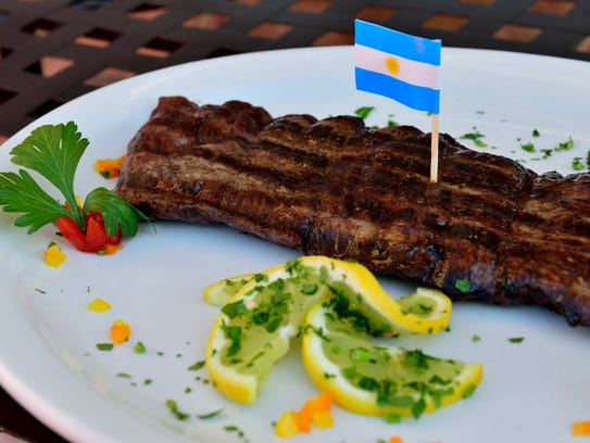 An Argentine Grilled Skirtsteak at the El Tango Argentina