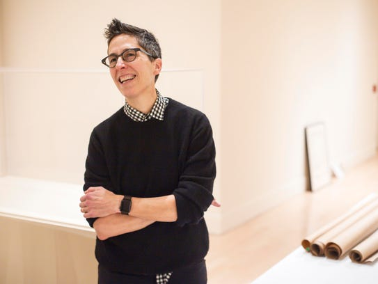 """Cartoonist Alison Bechdel tours preparations for """"Self-Confessed!"""