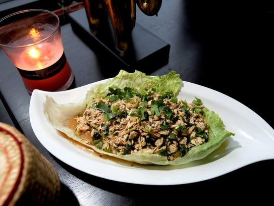 97744 MAYWOOD  Larb Gai dish at Pho Thai Lao Kitchen