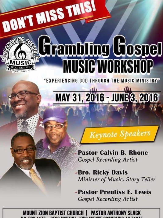Grambling Gospel Music Workshop May 31-June 3