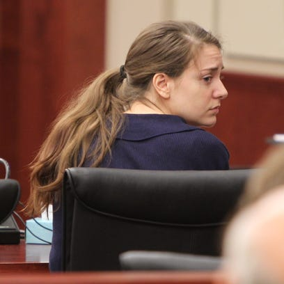 Shayna Hubers waits for a jury's recommendation for