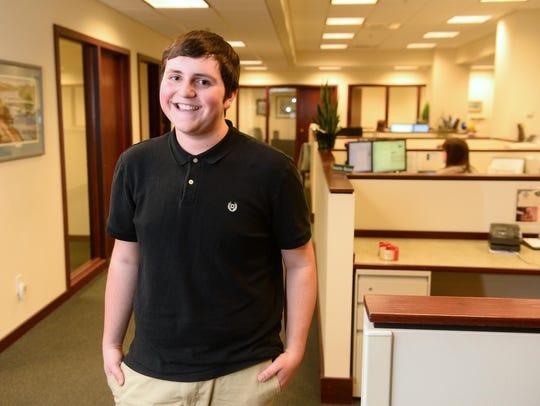 Logan LaTray, 17, is an intern at D.A. Davidson through