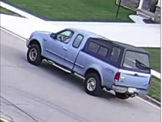 This truck is being sought in connection to a Sept. 11 burglary in Etna Township.