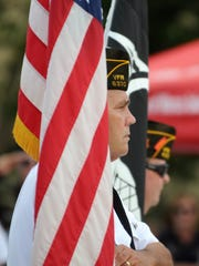 Jim Lang of the VFW color guard. On Memorial Day, 2014,