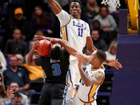 Amid the No. 3 freshmen class in the nation at LSU, a senior transfer from London shows up