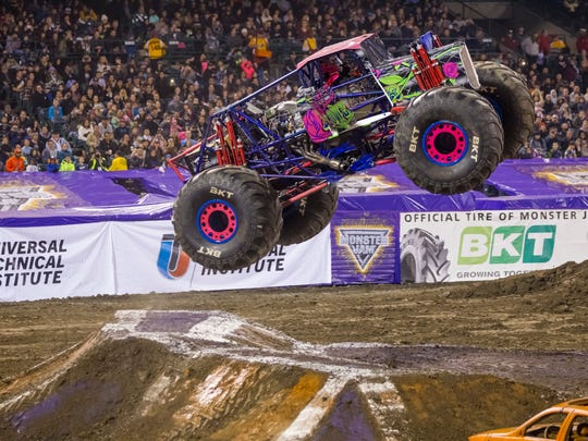 The Ford Center will be transformed for Monster Jam, Friday and Saturday featuring a number of trucks. Wild Flower is one fo the trucks touring this season.