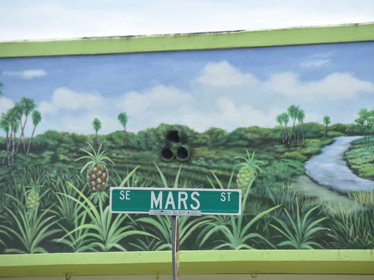 A pineapple mural is seen on the Posh Pineapple on 11760 S.E. Dixie Highway in Hobe Sound. Murals are one of the jewels of Hobe Sound's atmosphere.