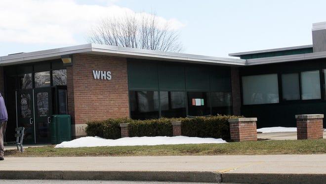 Webutuck High School is seen on March 29.