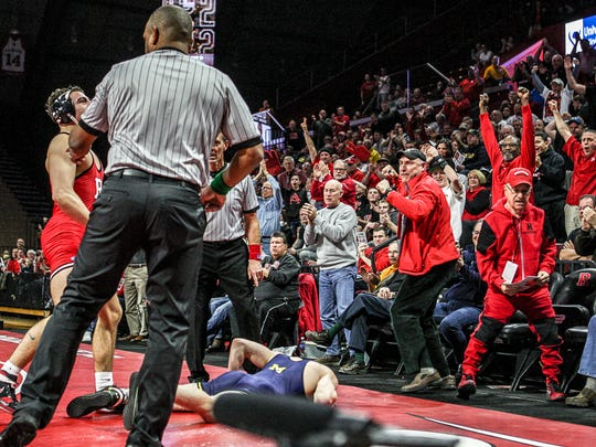 Rutgers wrestling is on pace to rank in the top six in the nation in attendance for the second straight season.