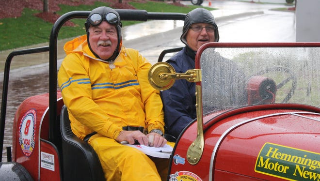 """The Sun City West Automotive Restoration Club entry into """"The Great Race"""" will be car #8, driven by Sun City West resident Don Kloth and Herb Clark as navigator."""