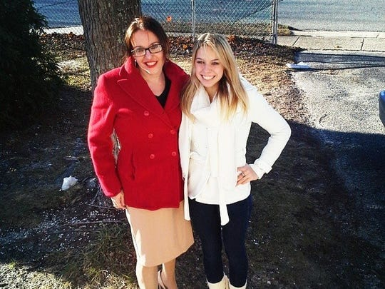 Skye Cotler (right) with her mother, Laura Thompson