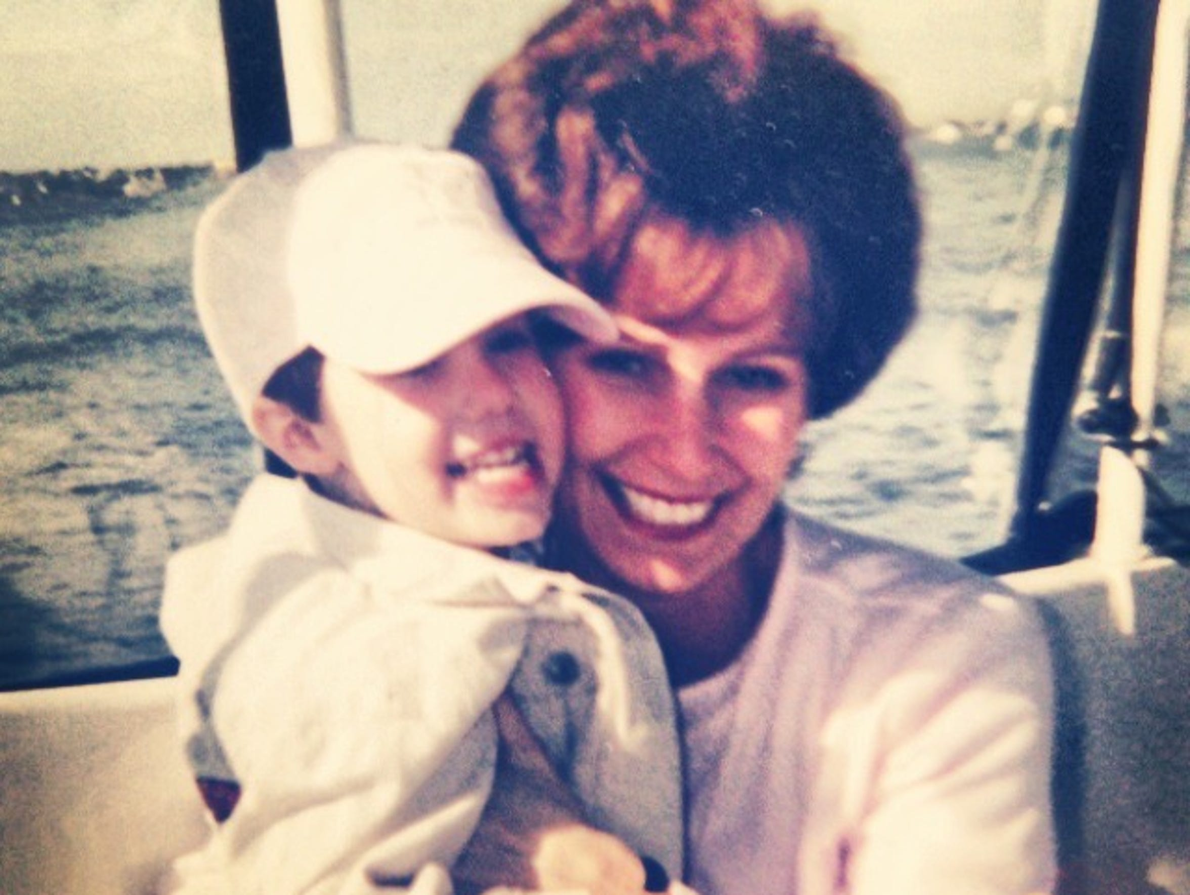 Evans with her mother, Sherry, before she passed.