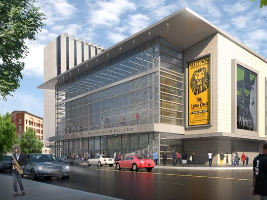 Rochester Broadway Theatre League's proposal for Parcel 5 at Midtown.
