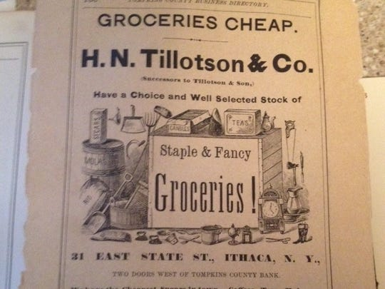 One of the businesses included in the Tompkins County Directory, 1868-69.