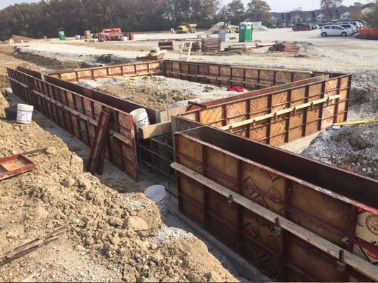 This fall, JP Cullen placed formwork for the foundation walls which will house the generator pad, located near where the locker rooms will be at the new school.