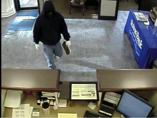 Police say this suspect robbed a Fulton Bank branch