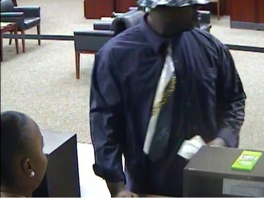 Regions Bank robbery suspect caught on surveillance