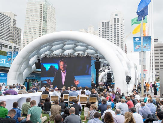 During Salesforce's annual customer confab, Dreamforce,