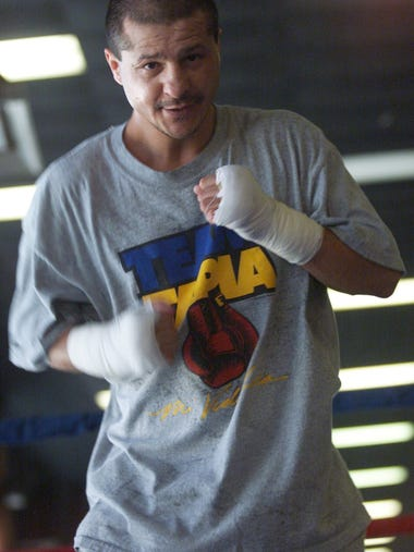 Johnny Tapia, four-time world boxing champion, shadow