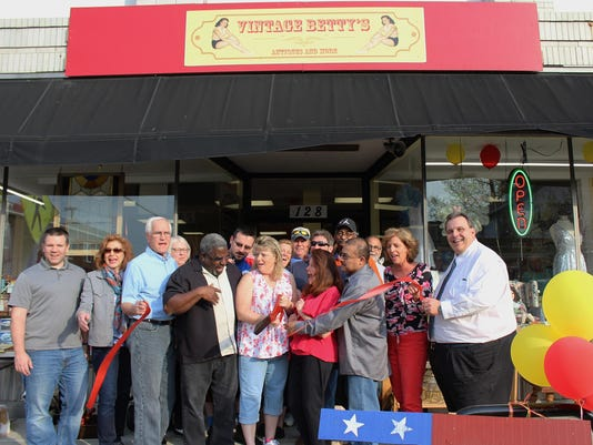 Vintage Betty's Ribbon Cutting