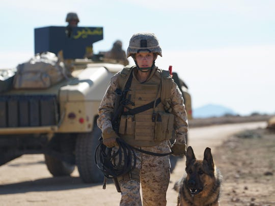"""Kate Mara plays the title character in """"Megan Leavey,"""" who develops a close relationship with her dog."""
