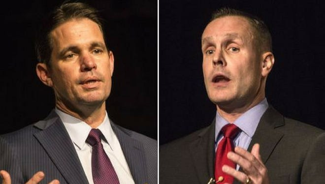 Marty Pollio, left, and Mike Raisor are the two finalists for the JCPS superintendent position.