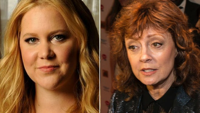 Actresses Amy Schumer and Susan Sarandon