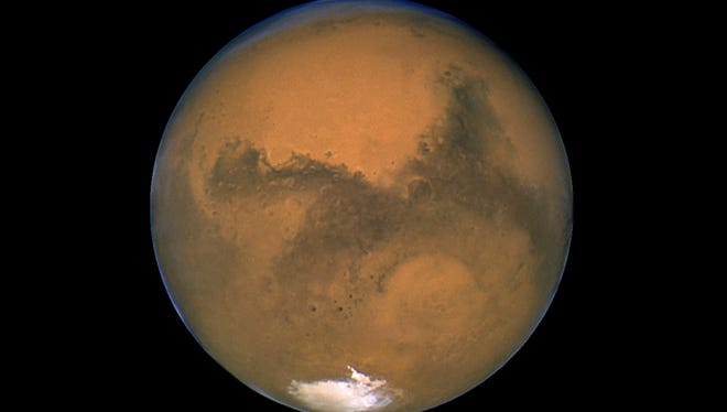Mars will be visible throughout the night as it traverses across the sky from east to west.