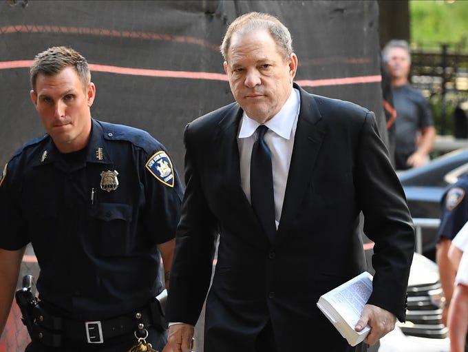 Harvey Weinstein arrives to court in New York, July